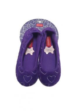 Soxo papuče srdiečka fialové