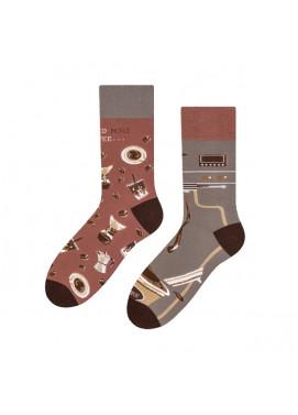 More fashion ponožky KÁVA
