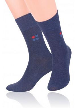 Steven ponožky s valentínskym vzorom