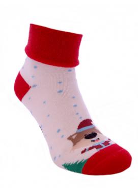 Foxysoxy froté dámske ponožky VIANOČNÉ LÍŠKY