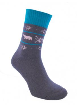 Foxysoxy froté ponožky VIANOČNÉ MEDVEDE