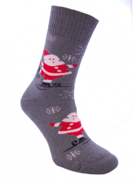 Foxysoxy froté ponožky VIANOČNÝ MIKULÁŠ