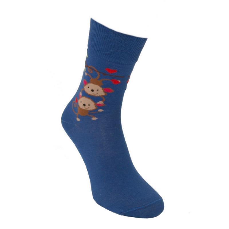 Foxysoxy valentínske pánske ponožky ZAĽÚBENÉ OPICE