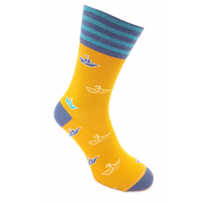 Foxysoxy ponožky PAPIEROVÉ LODIČKY