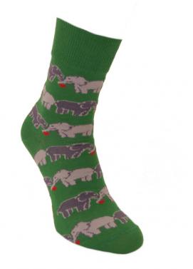 Foxysoxy valentínske ponožky ZAĽÚBENÉ SLONY