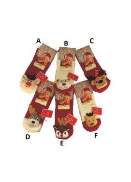Risocks kojenecké ponožky so zvieratkom VIANOČNÉ