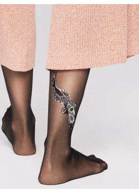 Vzorované pančuchové nohavice Fiore PAVONE 20den