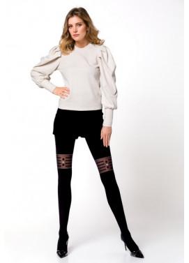 Vzorované pančuchové nohavice Knittex CLICK CLACK 50den