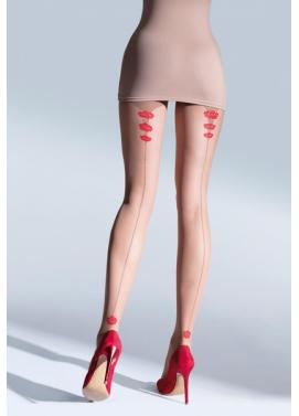 Vzorované pančuchové nohavice Knittex ROSES 20den