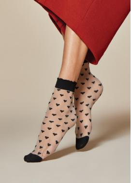 Vzorované ponožky Fiore JEUNET 20den